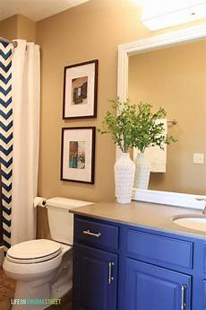painted bathroom vanity ideas guest bathroom makeover country chic paint