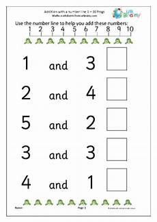 adding with a number line frogs addition maths