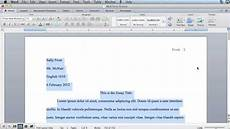 Microsoft Word Mla Mla Formatting Microsoft Word 2011 Mac Os X Youtube