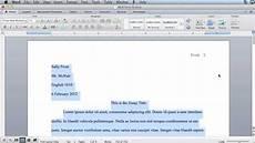 Microsoft Office Mla Format Mla Formatting Microsoft Word 2011 Mac Os X Youtube