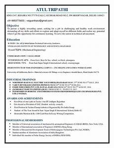 Mechanical Resume Samples For Freshers What Is The Best Resume For Mechanical Engineer Fresher