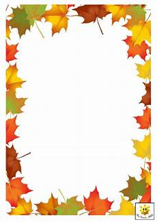 Free Fall Borders For Word Autumn Leaves Page Border Template Printable Pdf Download
