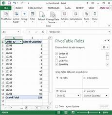 pivot table excel 2020 ms excel 2013 how to create a pivot table
