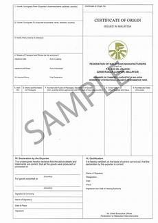 Certificate Of Manufacture Template Certificate Of Origin Vamaship