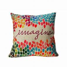 elviros linen cotton blend decorative cushion cover throw