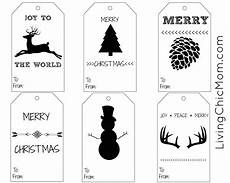 Christmas Labels Black And White Diy Shabby Chic Holiday Gift Tags Printable Living