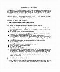 Event Planner Agreement 11 Event Contract Templates Free Sample Example Format