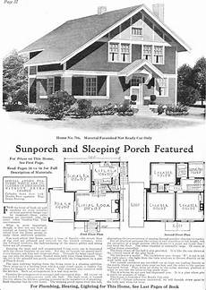 Arts And Crafts Homes Floor Plans 1918 Gordon Tine Model No 716 Two Story Arts