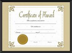 Template Of Award Certificate Award Certificate Of Excellence Template