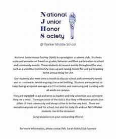 Njhs Essay Example Walker National Junior Honor Society Walker Ms