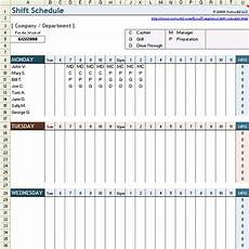 Shift Roster Format Free Employee Shift Schedule Template For Excel