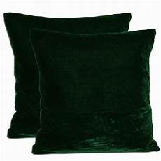 green velvet feather and filled throw pillows set of