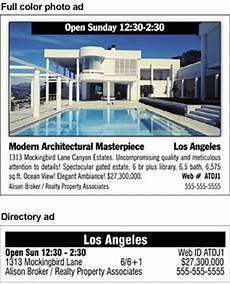 Housing Advertisements Examples Placeanad Latimes Com Real Estate Properties