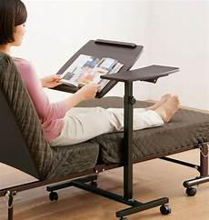 rolling height angle adjustable laptop sofa bed