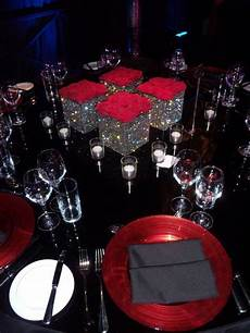 red black and silver wedding centerpieces red black plaid formal gala decor google search