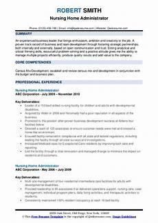 Nursing Home Administrator Cover Letter Nursing Home Administrator Resume Samples Qwikresume