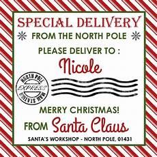 Santa Tag Santa Gift Tags Personalized Santa Tags Gift Tags From