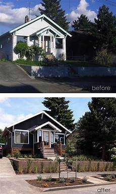 before after clean and simple upgrade of house exterior