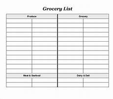 Easy Shopping List Template 13 Blank Grocery List Templates Pdf Doc Xls Free