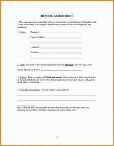 Free Rental Template Easy Free Rental Agreement Template Ipasphoto