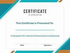 Certificate Format Template Free Sample Format Of Certificate Of Appreciation Template