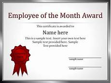 Employee Of The Month Award Impressive Employee Of The Month Award And Certificate