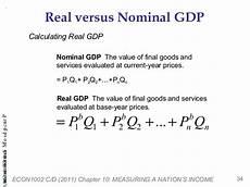 Formula For Nominal Gdp S Ap Macroeconomics Blog Nominal Or Real Gdp