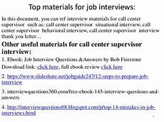 Job Interview Questions For Supervisor Position Top 10 Call Center Supervisor Interview Questions And Answers