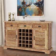 britain rustic teak wood 3 drawer 60 quot wine bar large