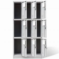 metal locker cabinet 9 doors grey vidaxl co uk