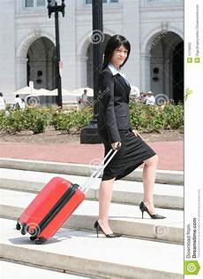 On A Business Trip Business Trip Woman Traveling Stock Photo Image Of