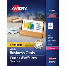 Avery Business Card Creator Avery 2 Sided Printable Clean Edge Business Cards For