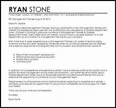 Management Trainee Cover Letter Samples Management Trainee Cover Letter Sample Cover Letter
