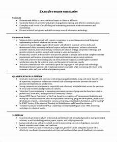 How To Complete A Resume Sample Summary For Resume 8 Examples In Word Pdf