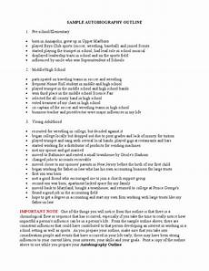 Auto Biography Outline Autobiography Sample Outline