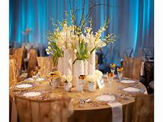 contemporary blue white and chagne wedding reception