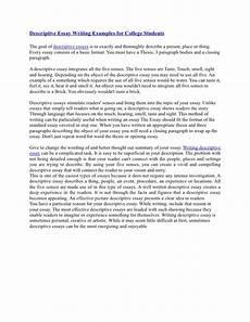 Descriptive Essay Conclusion Examples Descriptive Essay Writing Examples For College Students
