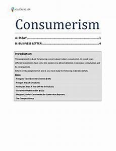 Essay On Consumerism Essay Om Quot Consumerism Quot Studienet Dk