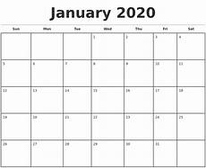 Monthly 2020 Calendar Printable June 2020 Blank Monthly Calendar