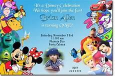 Disney Themed Party Invitations Disney Birthday Invitations Ideas Bagvania