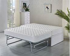 single bed base with trundle bed with 2 mattresses 5