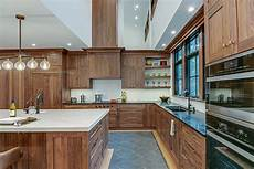 the of walnut kitchen cabinets by the kitchen