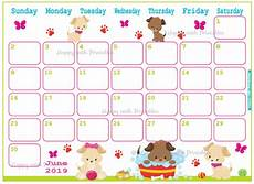 Summer Planner Calendar Calendar June 2019 Cute Summer Planner Printable Cute Etsy