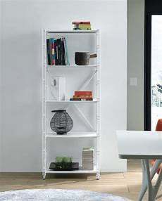 mobile a scaffali scaffale verticale socrate 154 da soggiorno in acciaio