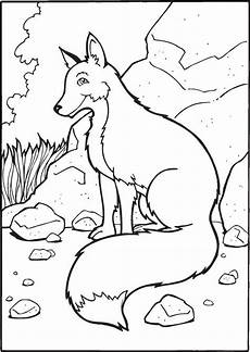 free printable fox coloring pages for kids animal