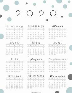 at a glance calendar 2020 year at a glance calendar 2020 pretty and free printable