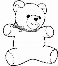 teddybaer mit schleife 3 ausmalbild malvorlage kinder