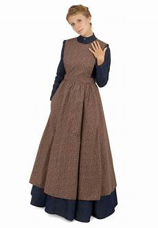 pioneer clothes pioneer calico apron pioneer dress pioneer clothing
