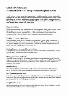 Common Resumes Common Cv Mistakes