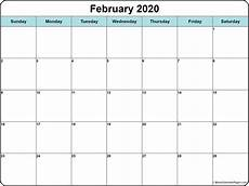 2020 calendar doc february 2020 calendar free printable monthly calendars